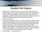student aid inquiry