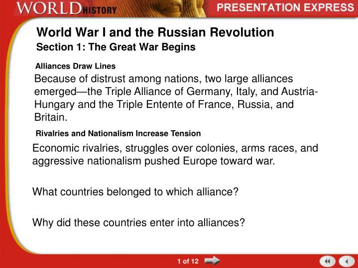 world war i and the russian revolution n.