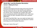 world war i and the russian revolution4