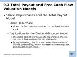 9 3 total payout and free cash flow valuation models