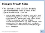 changing growth rates
