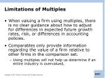 limitations of multiples