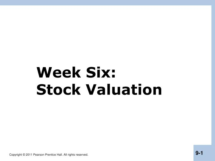 week six stock valuation n.