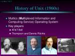 history of unix 1960s