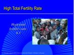 high total fertility rate