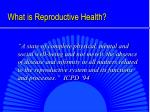 what is reproductive health