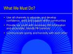 what we must do1