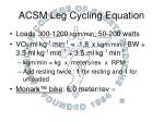 acsm leg cycling equation