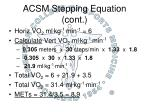 acsm stepping equation cont