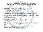 acsm walking equation