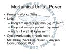 mechanical units power