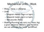 mechanical units work