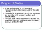 program of studies1