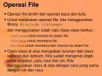 operasi file