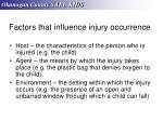 factors that influence injury occurrence