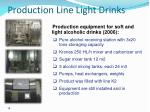 production line light drinks