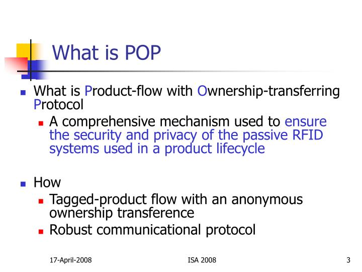 What is pop