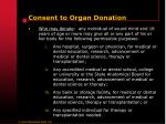 consent to organ donation