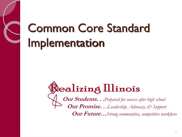 common core standard implementation n.