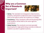 why are a common set of standards important1