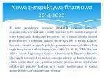 nowa perspektywa finansowa 2014 2020