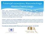 potencja rozwojowy mazowieckiego klastra chemicznego