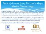 potencja rozwojowy mazowieckiego klastra chemicznego1