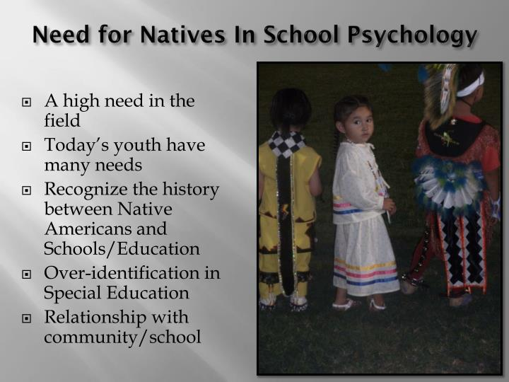 Need for Natives In School Psychology