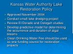 kansas water authority lake restoration policy