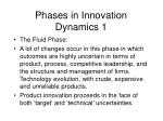 phases in innovation dynamics 1