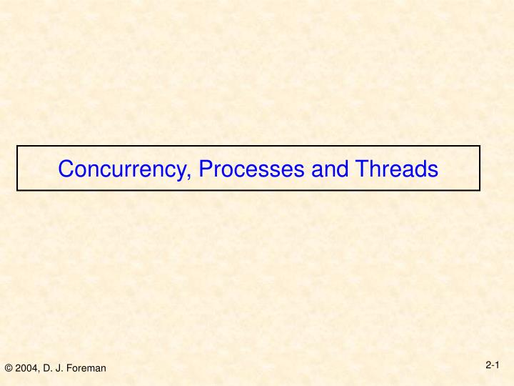 concurrency processes and threads n.