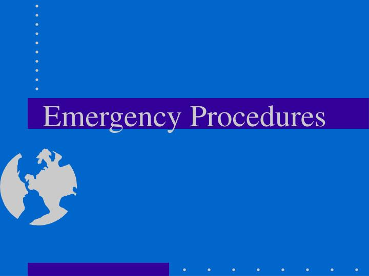 emergency procedures n.