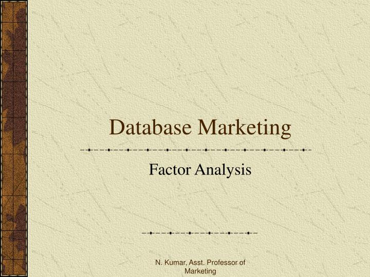 database marketing n.