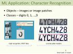 ml application character recognition