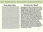 nlp application automatic summarization