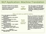 nlp application machine translation