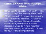 lesson 15 focus point stronger advice3