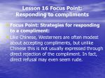 lesson 16 focus point responding to compliments2