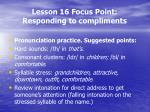 lesson 16 focus point responding to compliments4