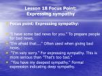 lesson 18 focus point expressing sympathy2