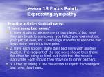 lesson 18 focus point expressing sympathy4