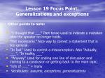 lesson 19 focus point generalizations and exceptions3