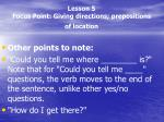 lesson 5 focus point giving directions prepositions of location3