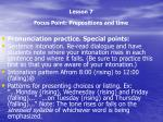 lesson 7 focus point prepositions and time3