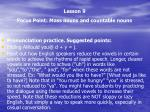 lesson 9 focus point mass nouns and countable nouns3