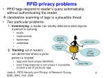 rfid privacy problems
