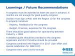 learnings future recommendations