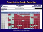 example care quality reporting