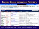 example disease management reminders