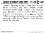standard operating prosedur sop
